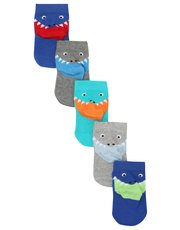 Animal heel socks five pack