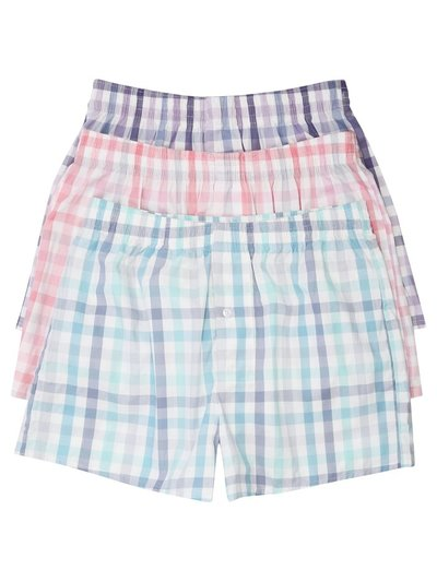 Gingham check boxers three pack