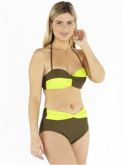 Beachcomber twist front bikini set