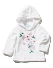 Embroidered butterfly fleece