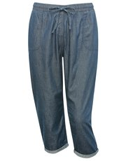 Plus denim jogger trousers