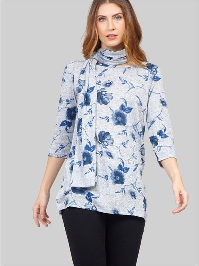 Izabel floral top with scarf
