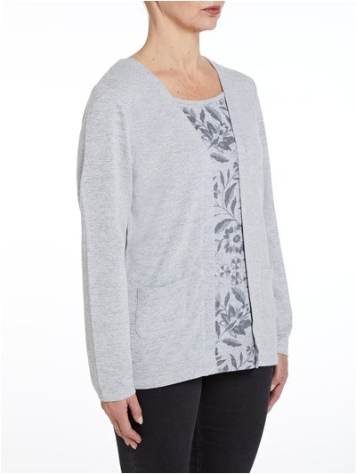 TIGI grey cardigan