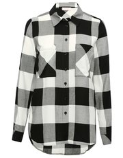 Monochrome check shirt