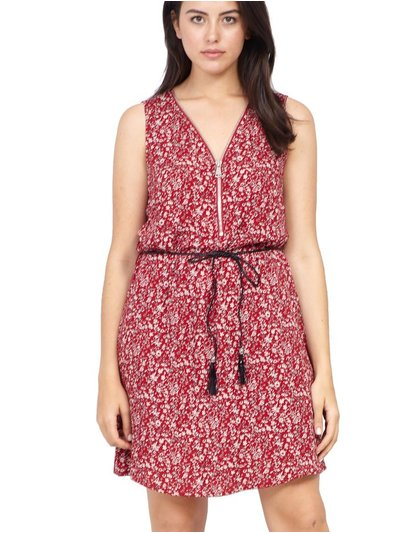 Izabel Curve ditsy floral zip neck dress