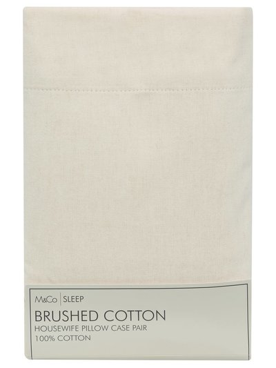 Brushed cotton pillowcase pair
