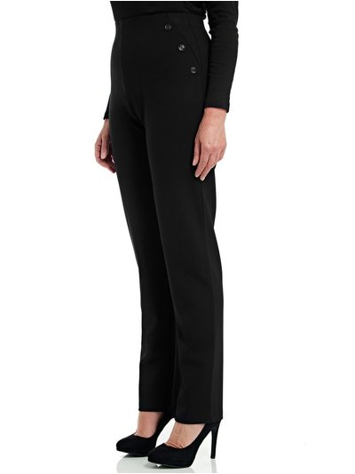 TIGI black 6 buttoned trousers