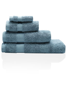 Mid Blue Combed Cotton Towels