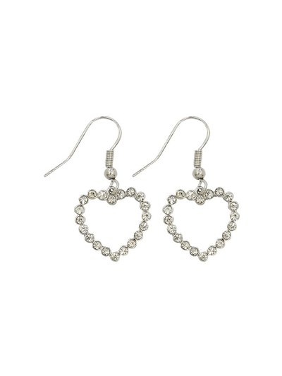Teen diamante heart earrings