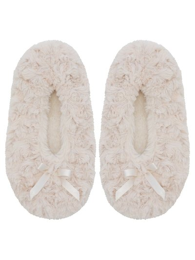 Faux fur footsie slippers