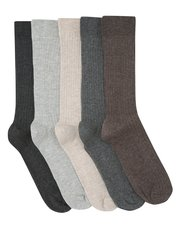 Ribbed socks five pack