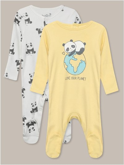 Love our planet sleepsuit two pack (tinybaby-18mths)