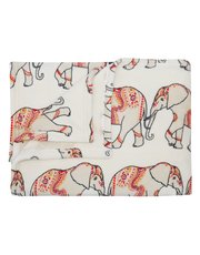 Elephant fleece throw