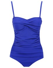 Blue multiway tummy control swimsuit