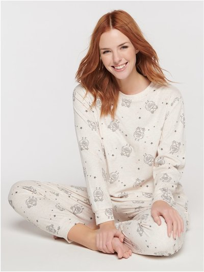 Fleece owl pyjama set