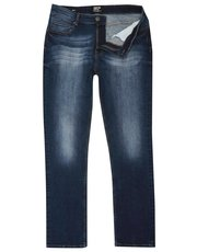 Stone wash slim leg stretch jeans