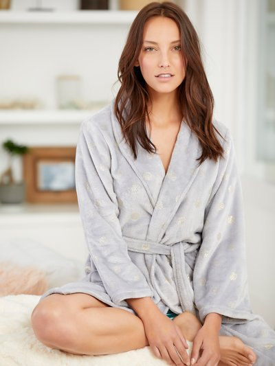 Spot wrap dressing gown
