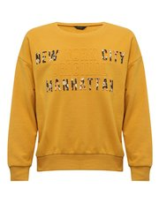 Teen floral slogan sweatshirt