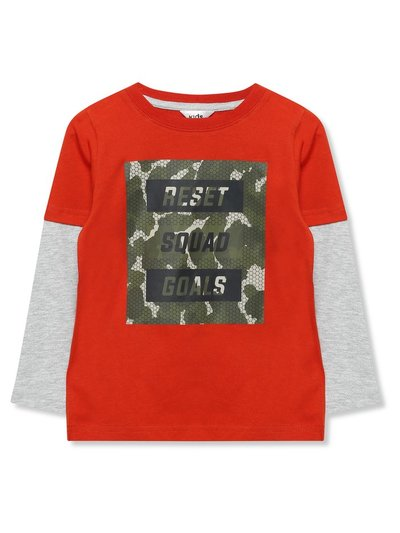Camo squad goals slogan t-shirt (3-12yrs)