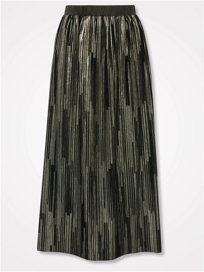 Sonder Studio velvet pleat skirt