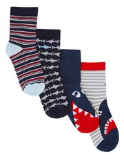 Shark socks four pack