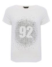 Teens' glitter number top