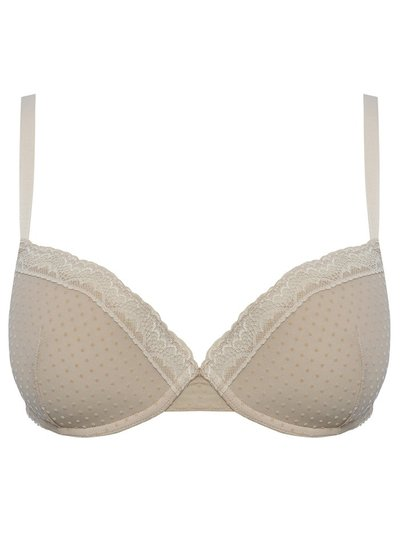 Padded lace underwire bra