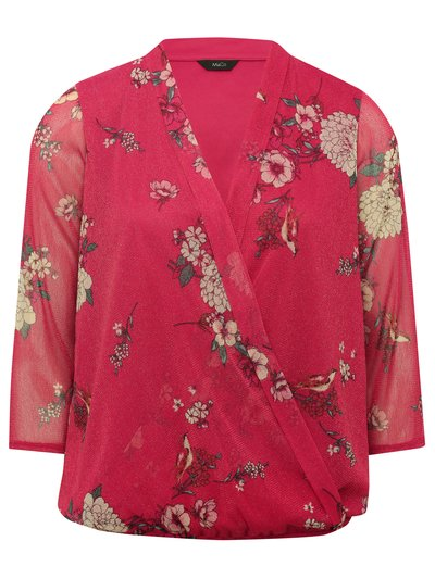Floral glitter wrap over top