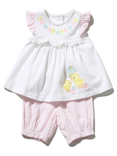 Duck smock dress and bloomers (Newborn - 18 mths)