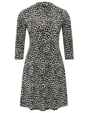 Petite heart print swing dress