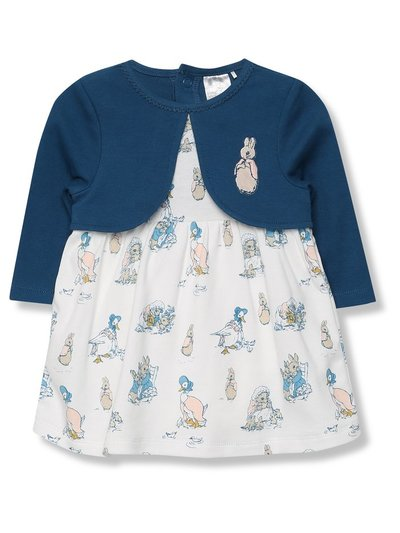 Peter Rabbit dress and mock cardigan set (Newborn - 24 mths)