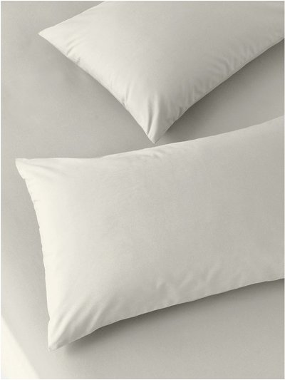 Cotton rich taupe pillowcases two pack