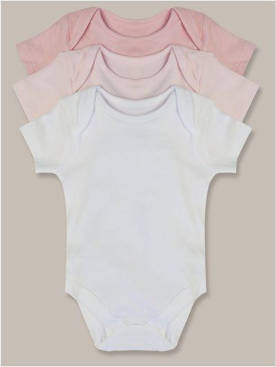 Short Sleeve Bodysuits Three Pack (Tinybaby-18mths)