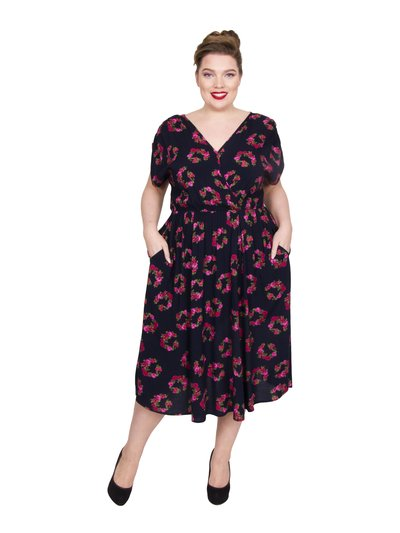 Scarlett and Jo plus wrap pocket dress