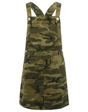 Teen camouflage pinafore dress
