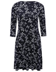 Petite butterfly print swing dress