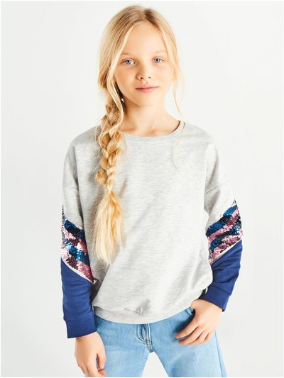 Two way sequin sweatshirt (3-12yrs)