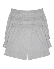 Grey boxers three pack