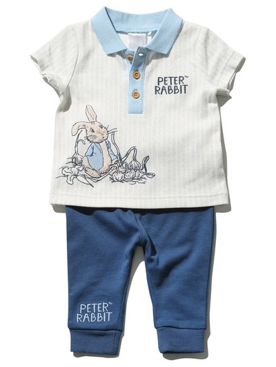 Peter Rabbit polo shirt and joggers set (Newborn - 3 yrs)