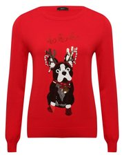 Sequin dog Christmas jumper