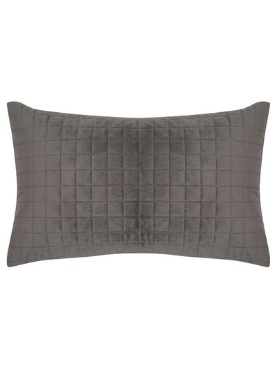 Grey rectangular cushion