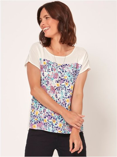 Spirit floral print necklace top