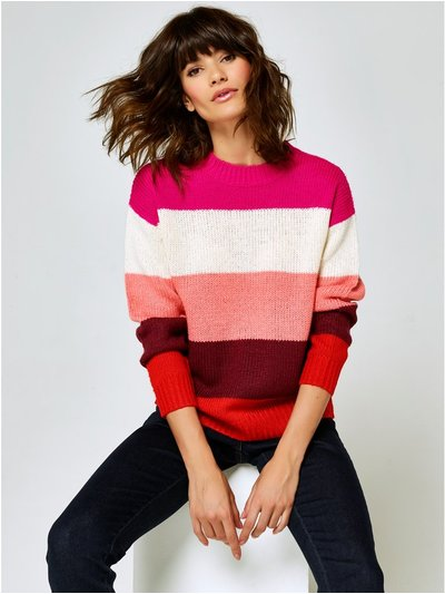Colourful stripe jumper
