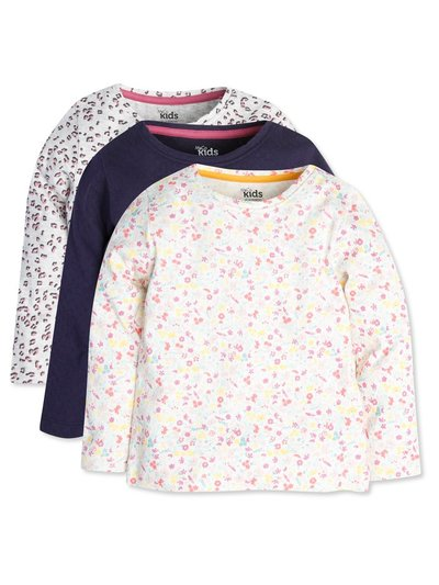 Patterned tops three pack (9mths-5yrs)