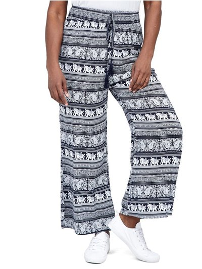 Izabel Curve tribal wide leg trousers