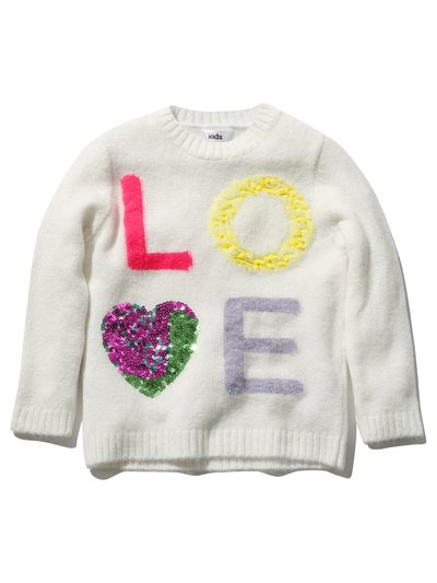Sequin love jumper (3 - 12 yrs)