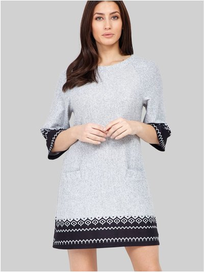 Izabel fair isle print knit dress