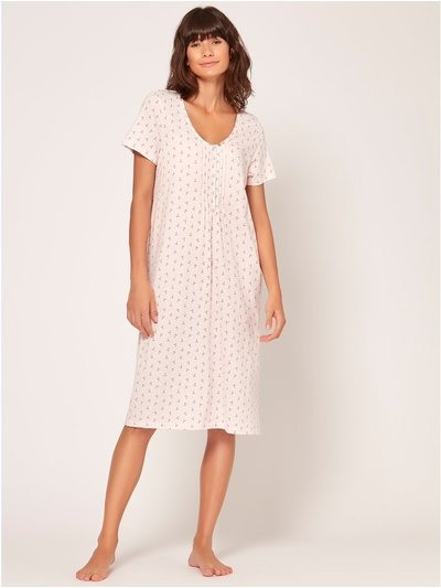 Pink leaf print nightdress