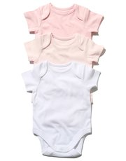 Pink bodysuit three pack (Tiny baby - 18 mths)
