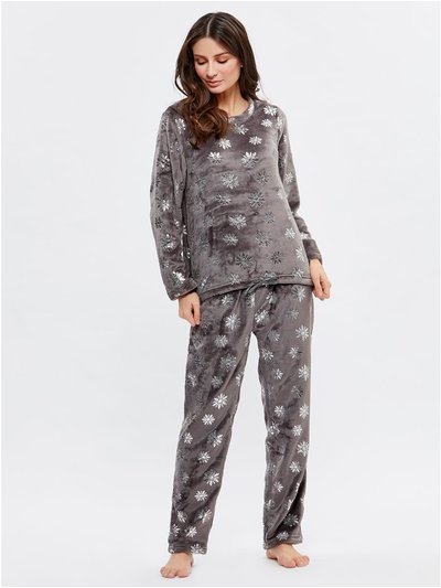 Snowflake fleece pyjama set